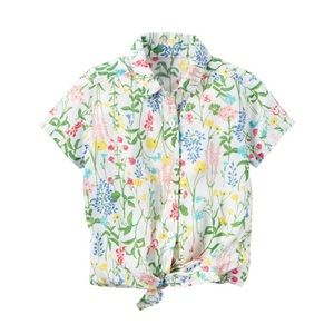 *5 for $20 Sale* Floral Tie-Front Shirt